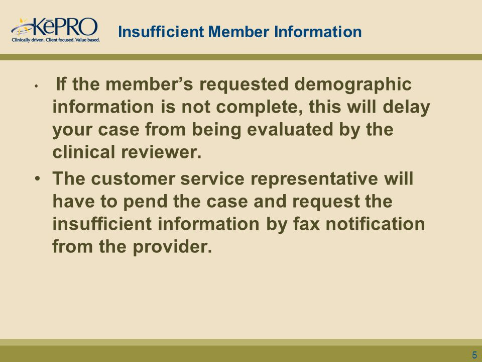 Insufficient Member Information