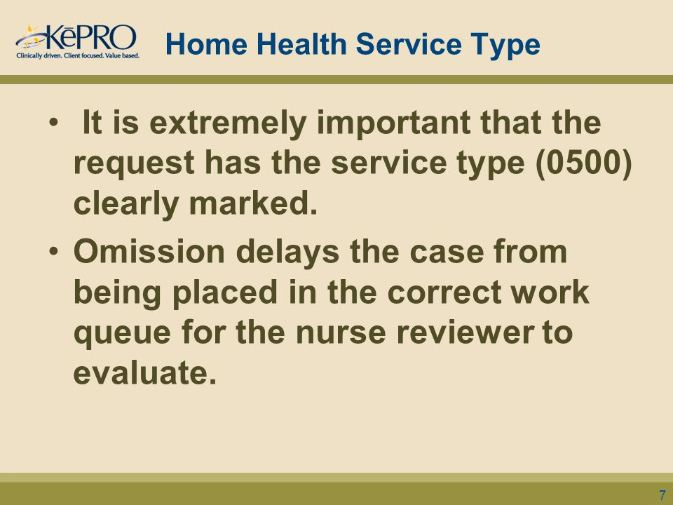 Home Health Service Type