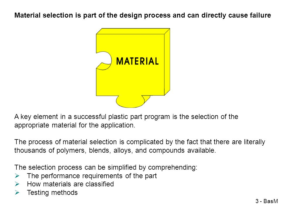 Material selection is part of the design process and can directly cause failure
