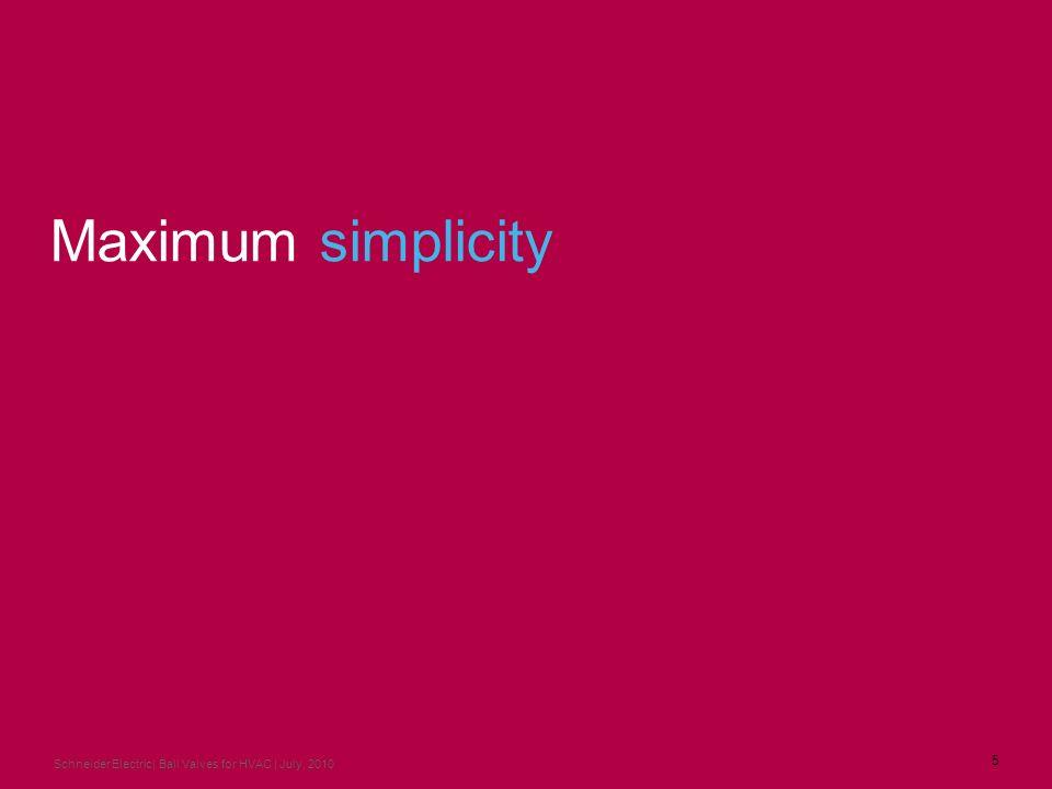 Maximum simplicity