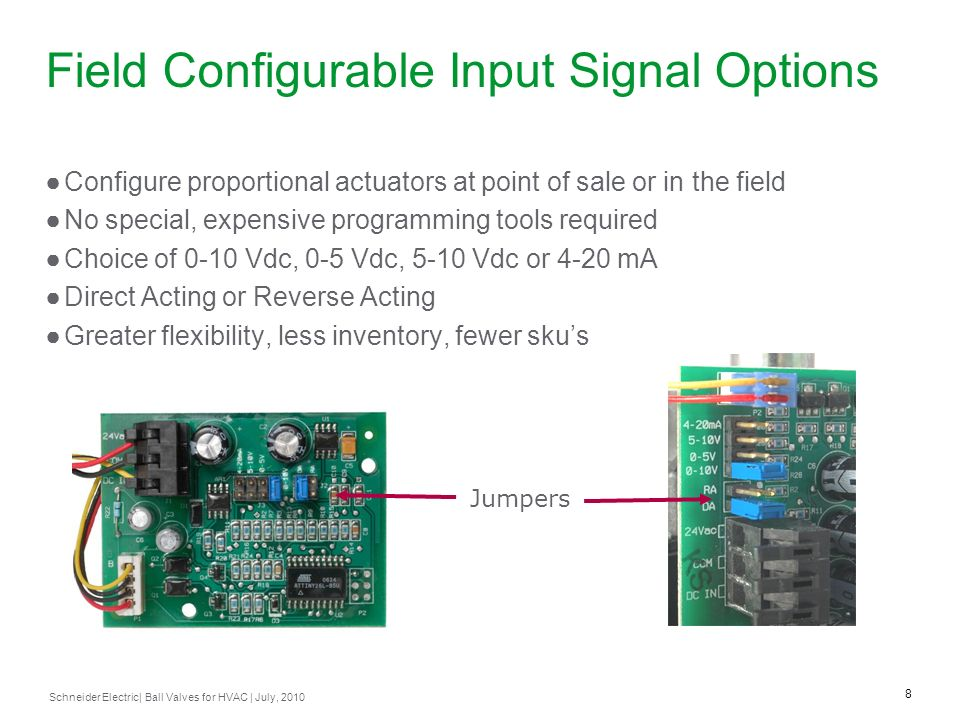 Field Configurable Input Signal Options