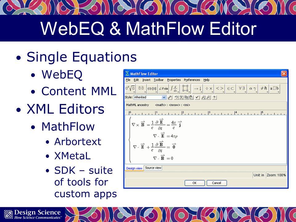 WebEQ & MathFlow Editor