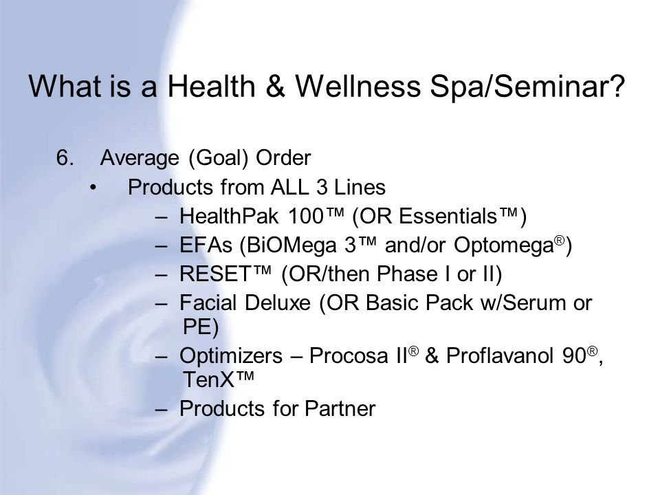 What is a Health & Wellness Spa/Seminar