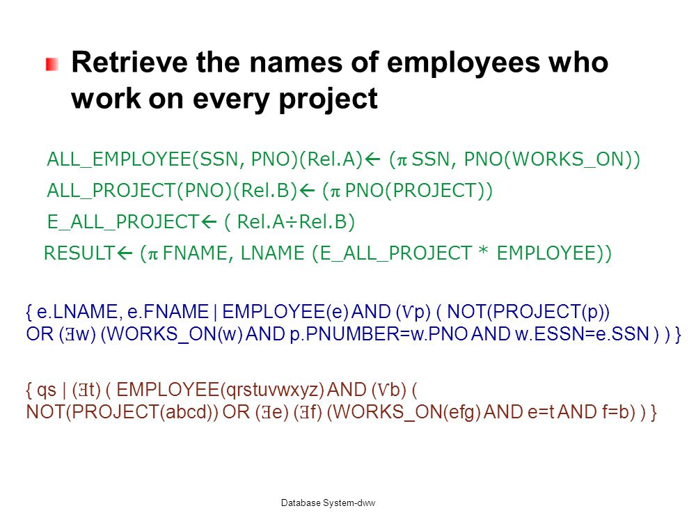 Retrieve the names of employees who work on every project