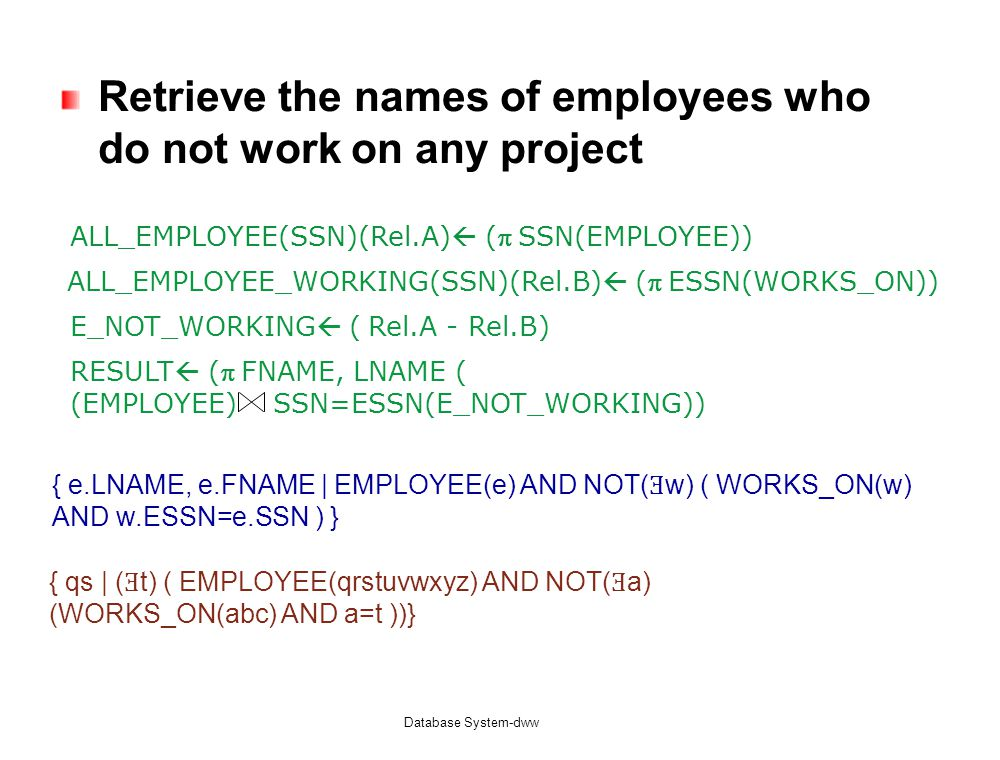Retrieve the names of employees who do not work on any project