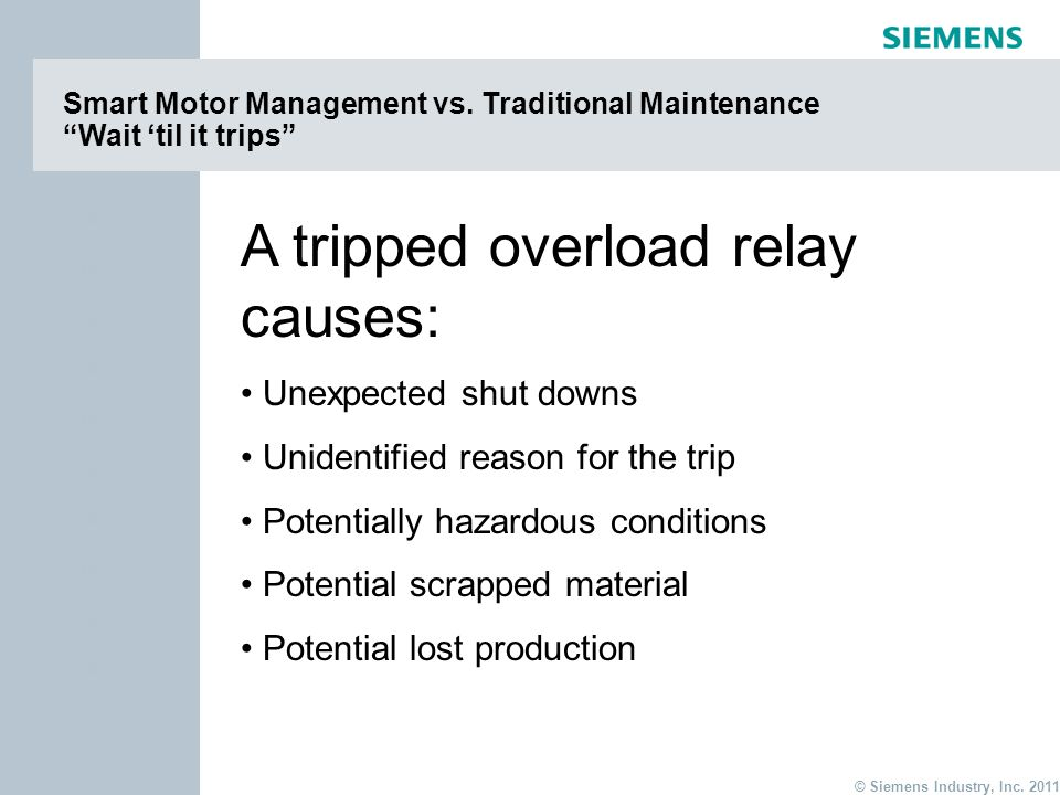 A tripped overload relay causes: