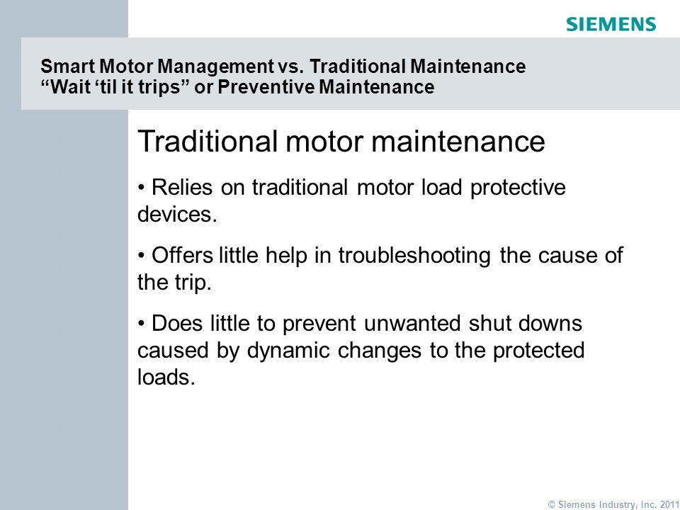 Traditional motor maintenance