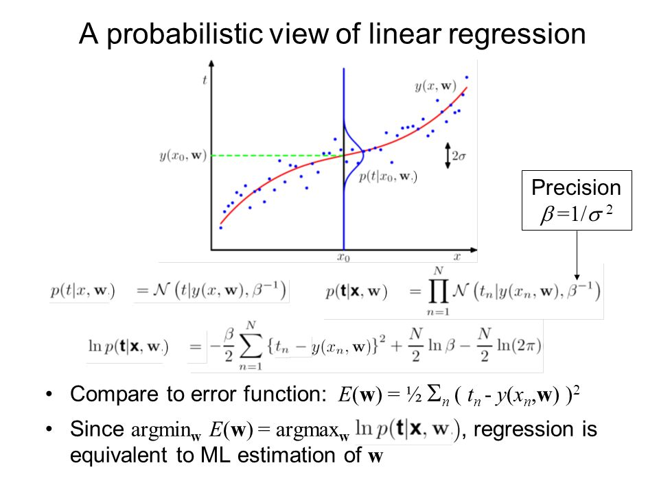 A probabilistic view of linear regression