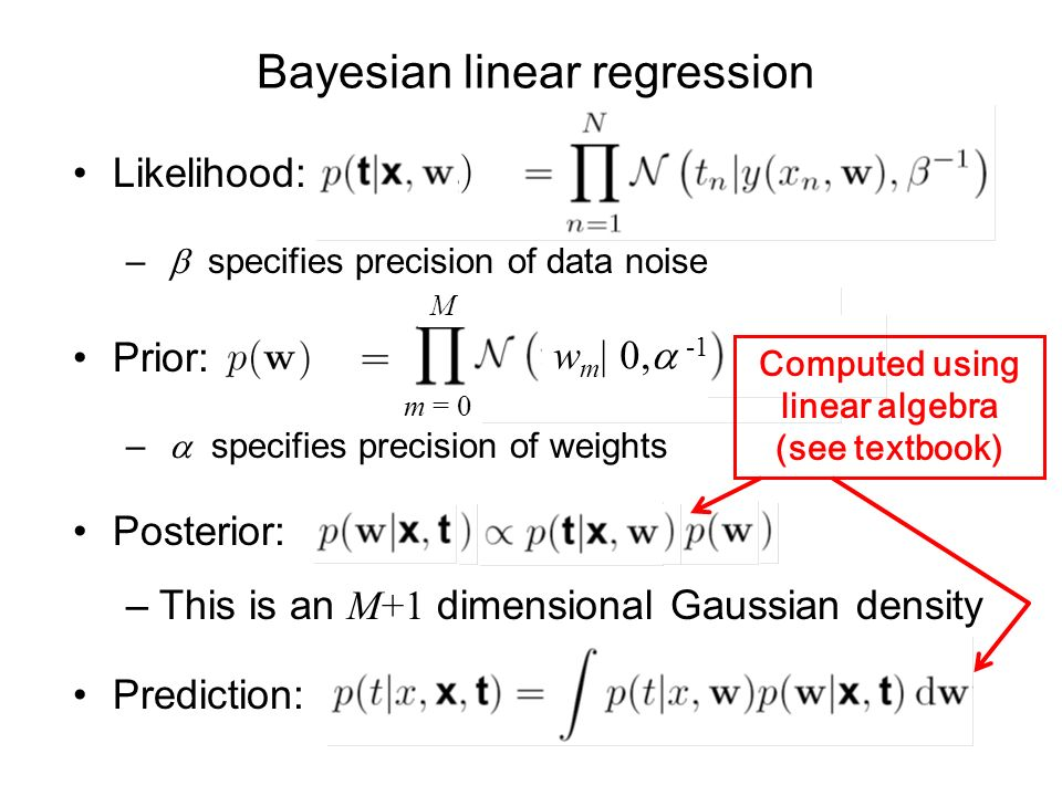 Bayesian linear regression