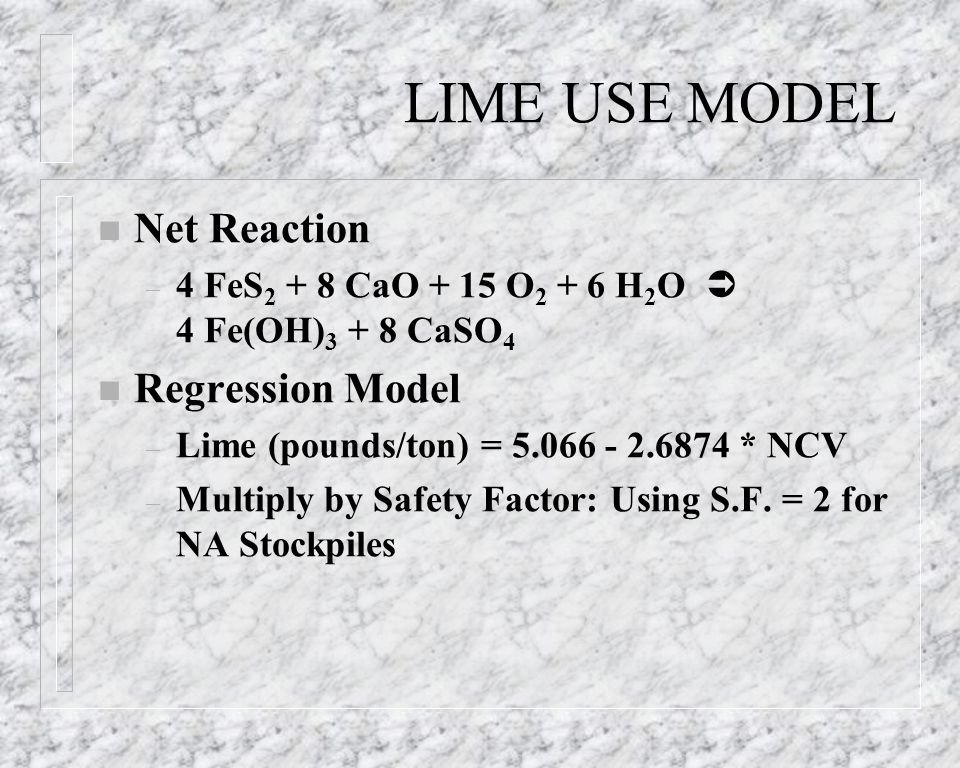 LIME USE MODEL Net Reaction Regression Model