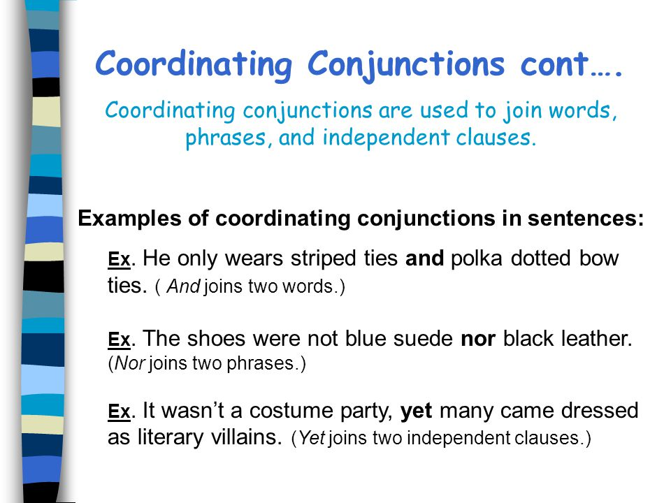 Conjunctions By Amy E Sanders Edited By The Uwc Staff Ppt Video
