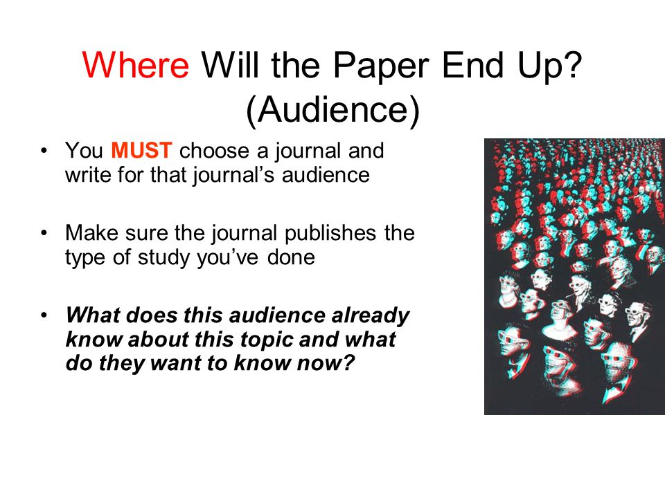 Where Will the Paper End Up (Audience)