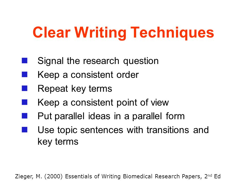 essentials of biomedical research papers
