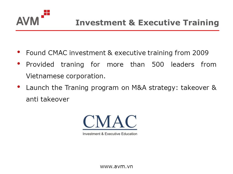 Investment & Executive Training