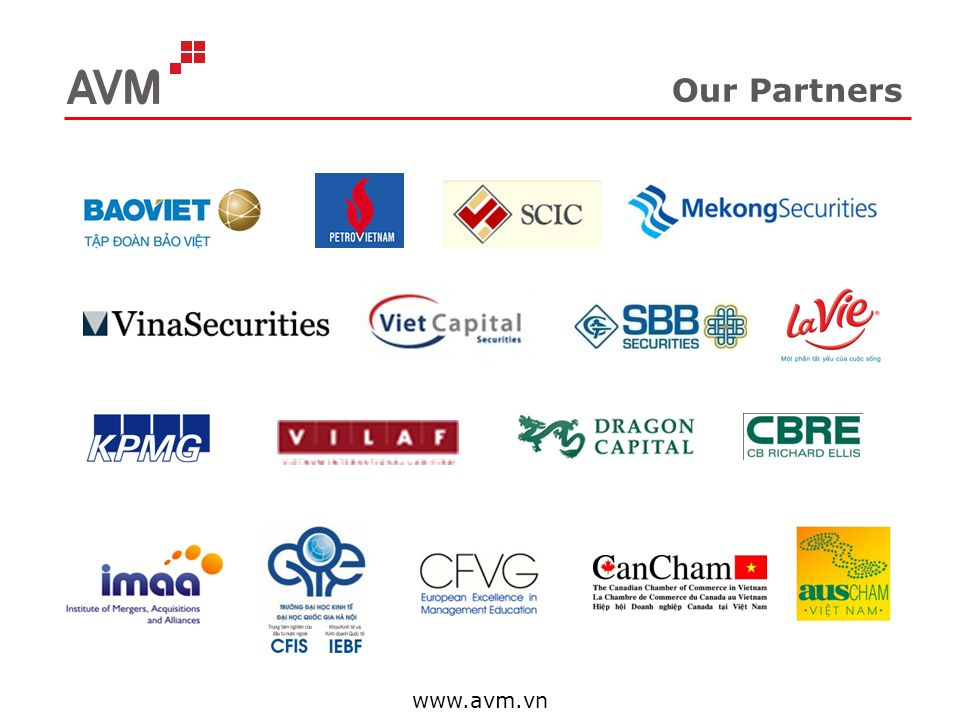 Our Partners www.avm.vn