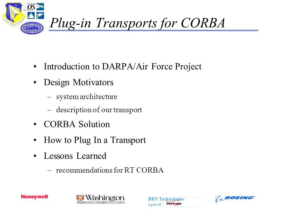 Plug-in Transports for CORBA