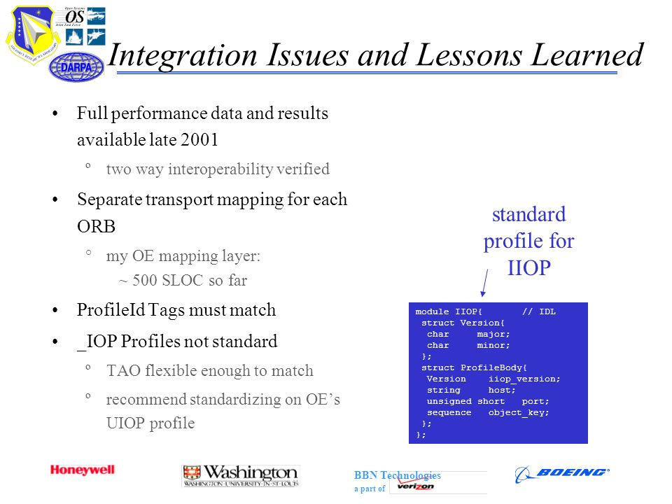 Integration Issues and Lessons Learned