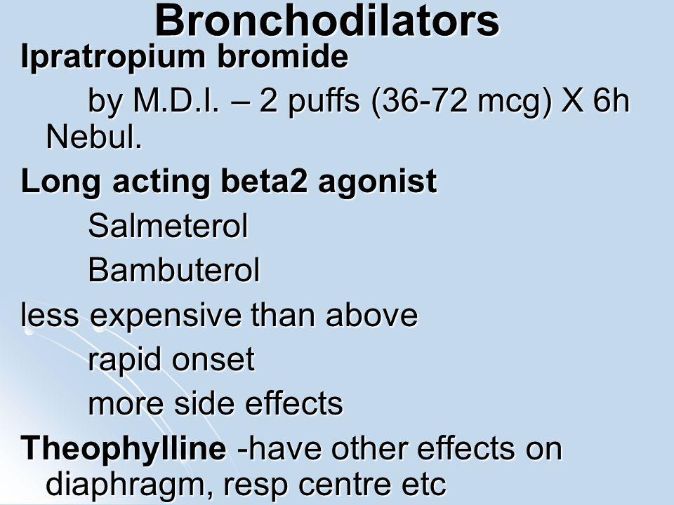 Bronchodilators Ipratropium bromide