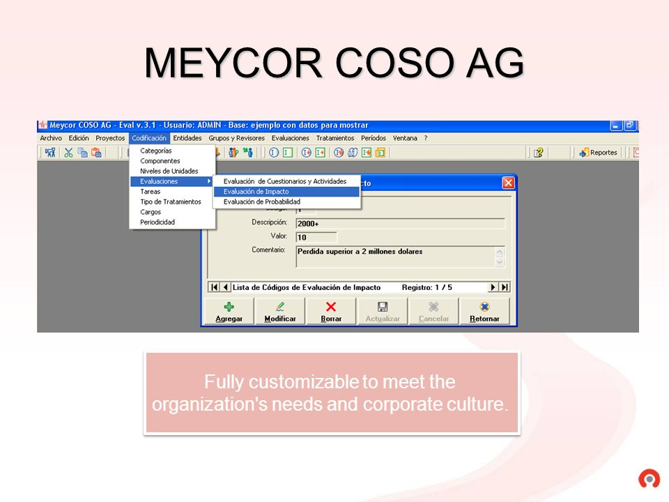 MEYCOR COSO AG Fully customizable to meet the