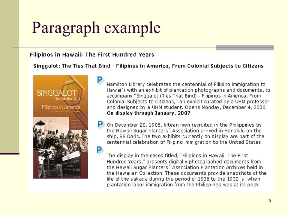 Paragraph example
