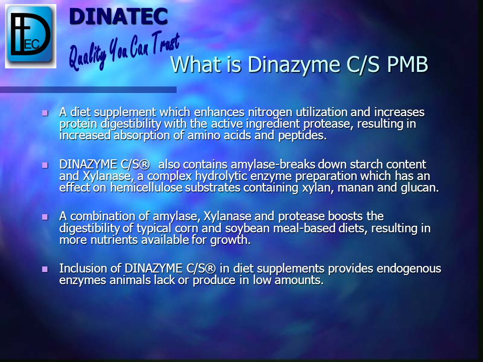 What is Dinazyme C/S PMB