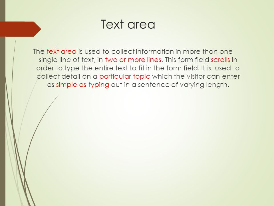 Text area
