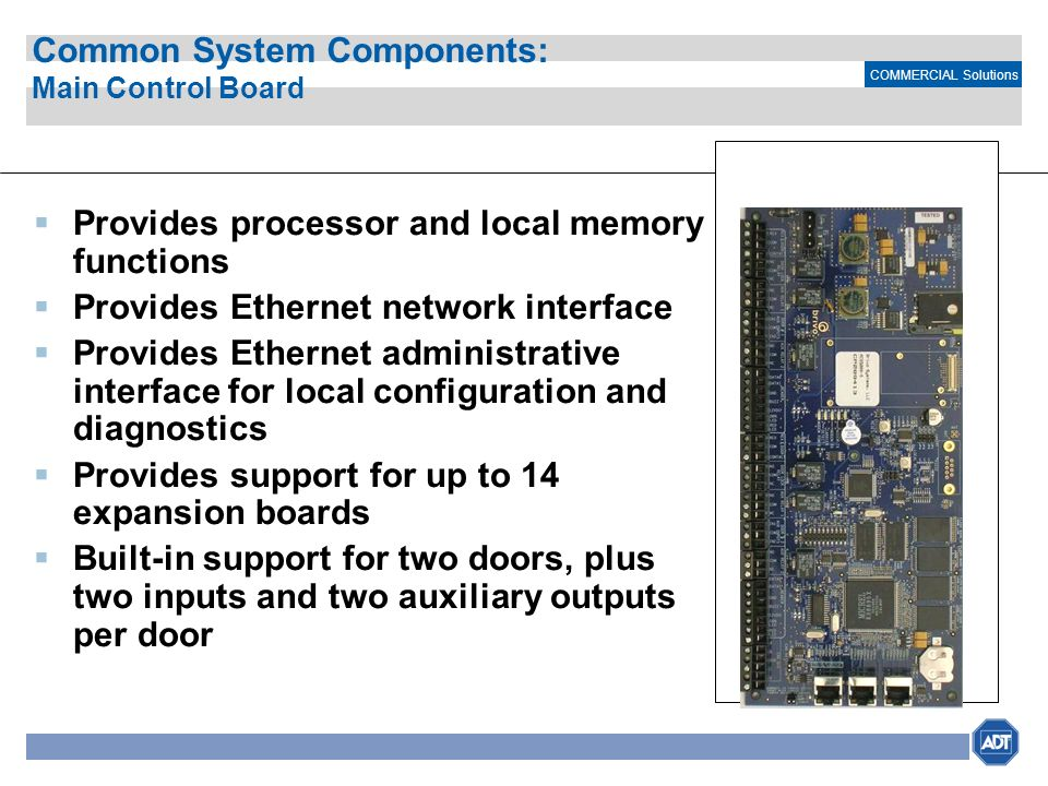 Common System Components: Main Control Board