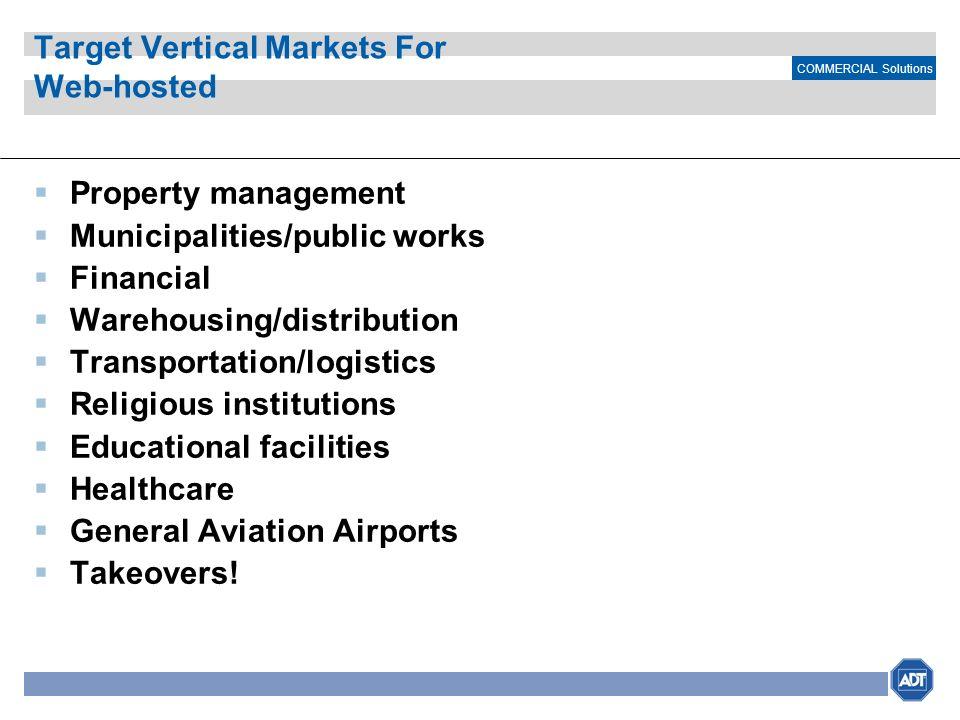 Target Vertical Markets For Web-hosted
