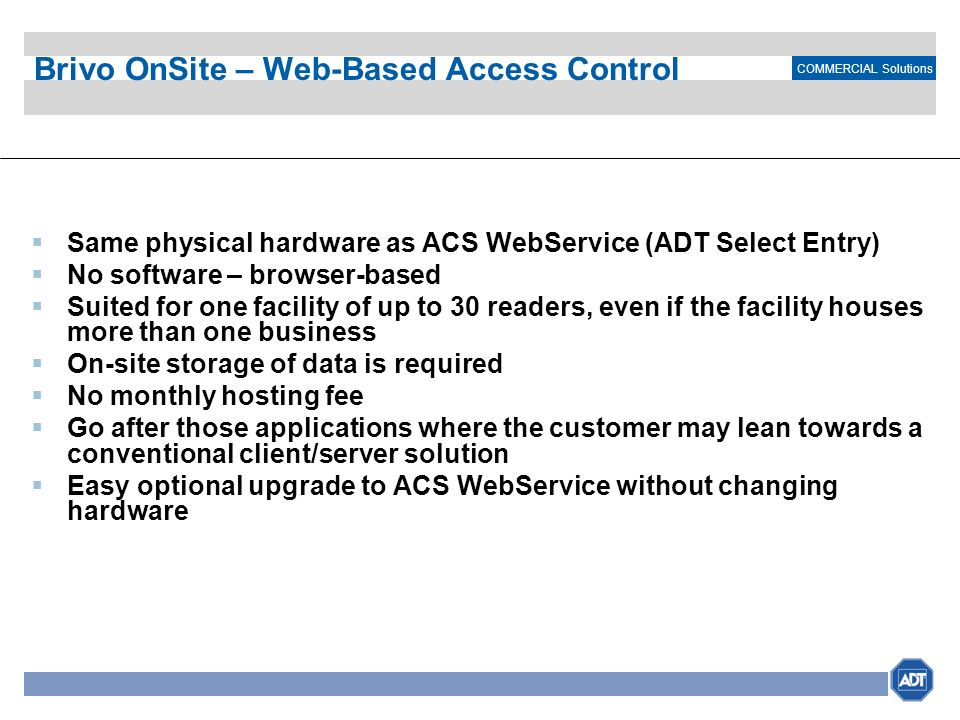 Brivo OnSite – Web-Based Access Control