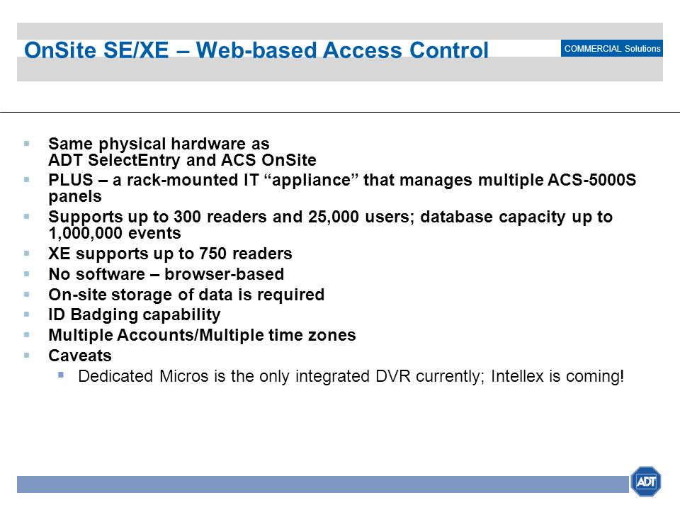 OnSite SE/XE – Web-based Access Control