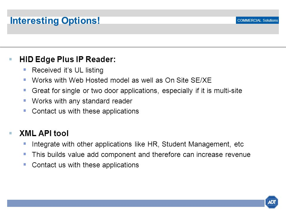 Interesting Options! HID Edge Plus IP Reader: XML API tool
