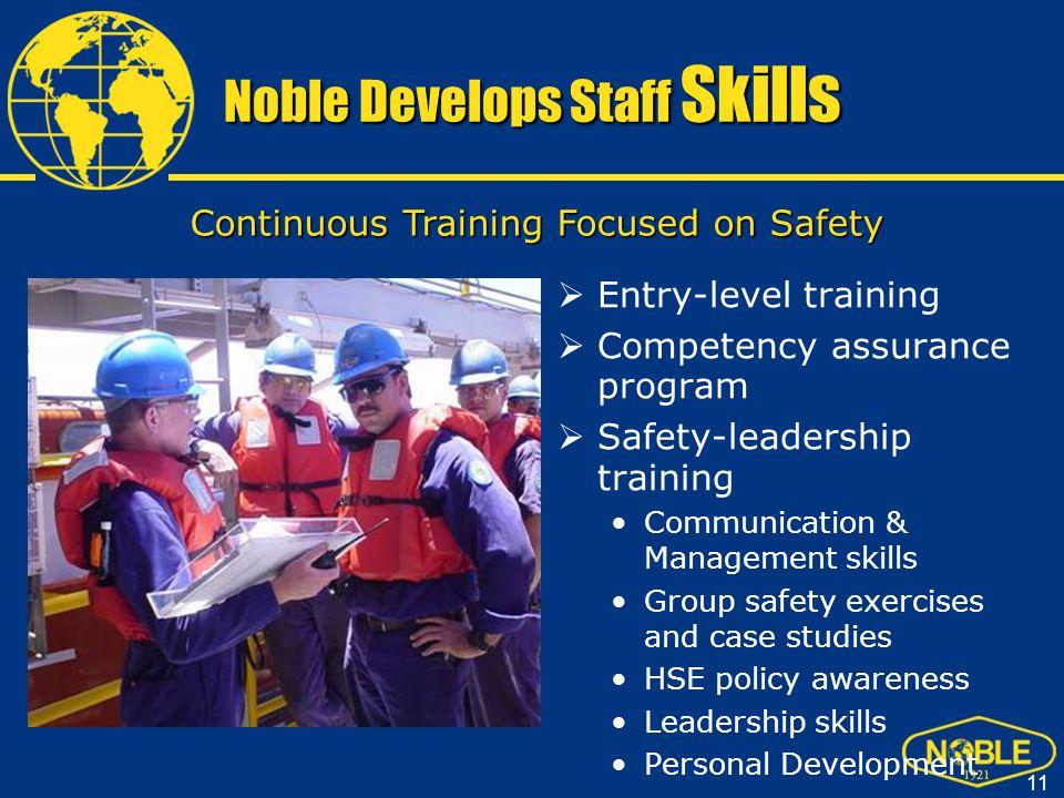 Noble Develops Staff Skills