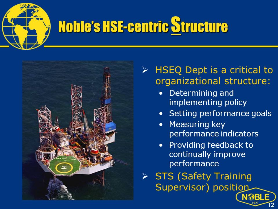 Noble's HSE-centric Structure