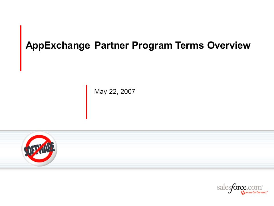 AppExchange Partner Program Terms Overview
