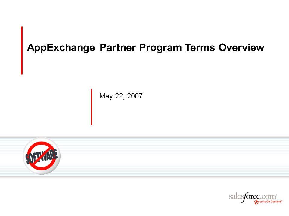 AppExchange Partner Program Terms Overview