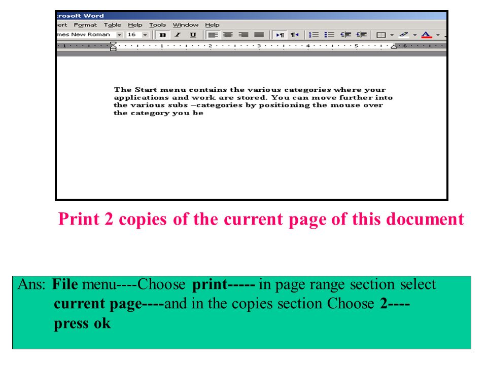 Print 2 copies of the current page of this document