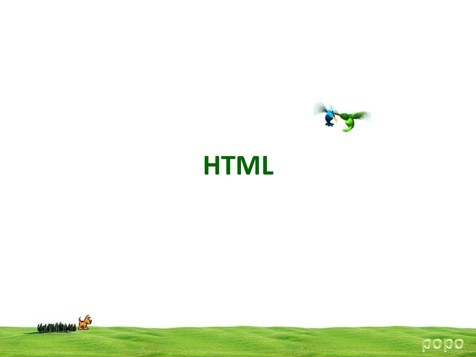 HTML popo