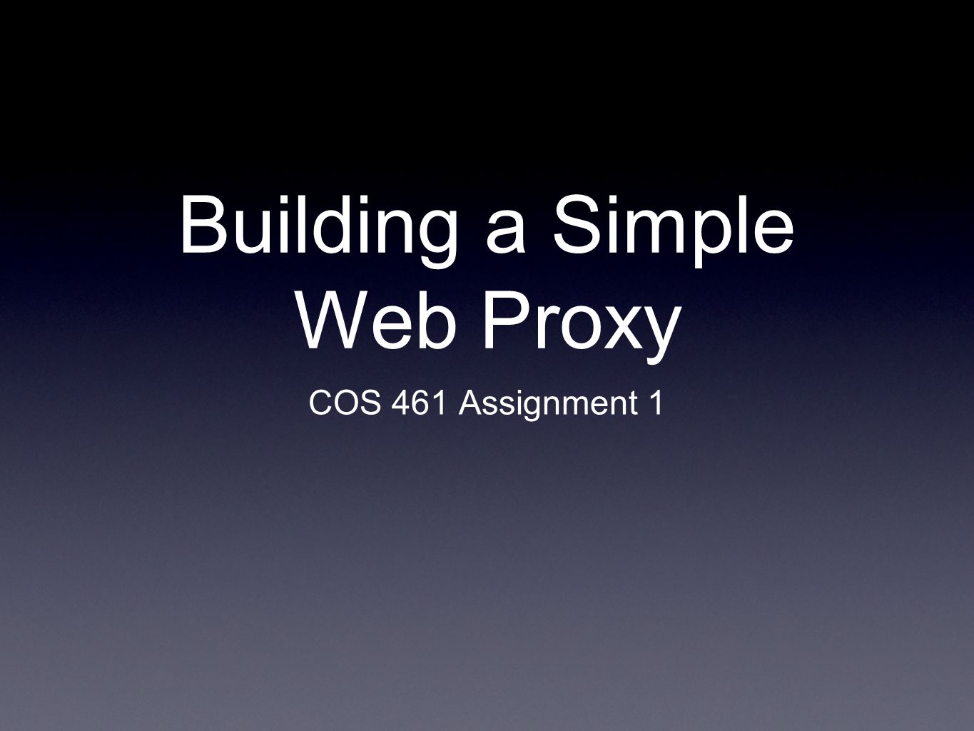 Building a Simple Web Proxy