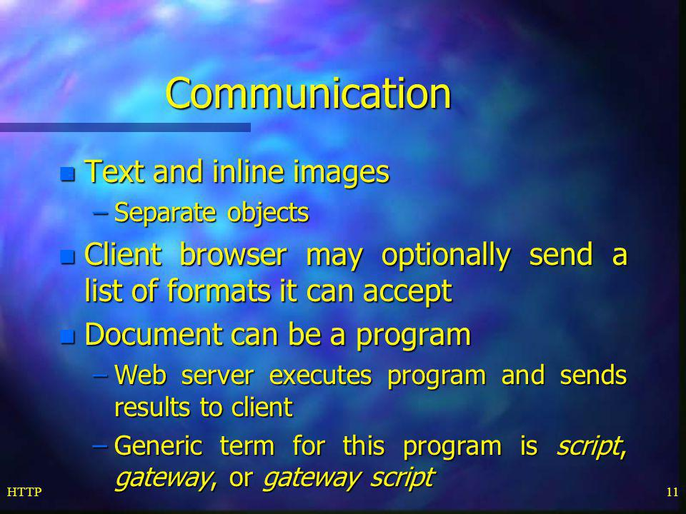 Communication Text and inline images