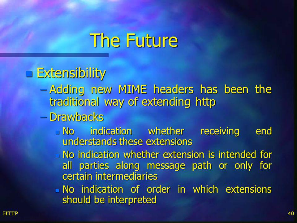 The Future Extensibility