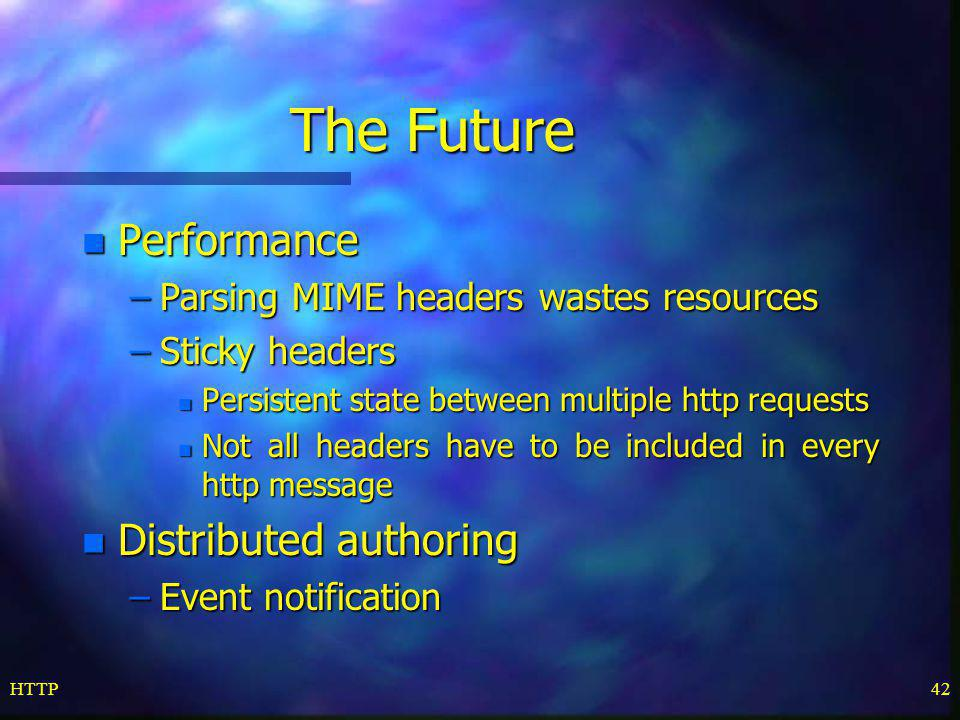 The Future Performance Distributed authoring