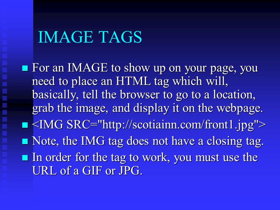 IMAGE TAGS