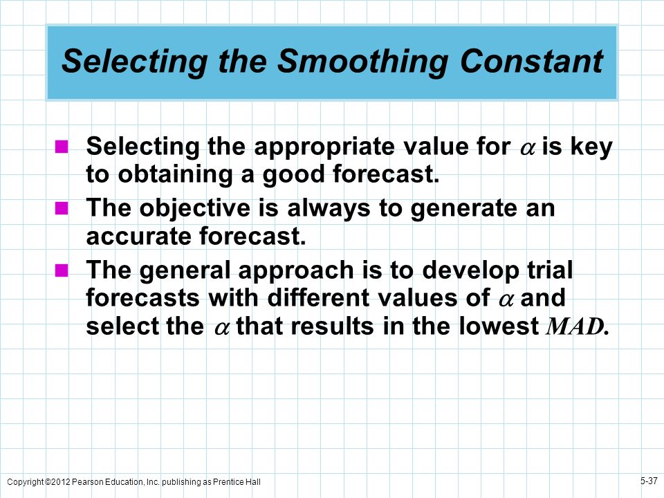 Selecting the Smoothing Constant