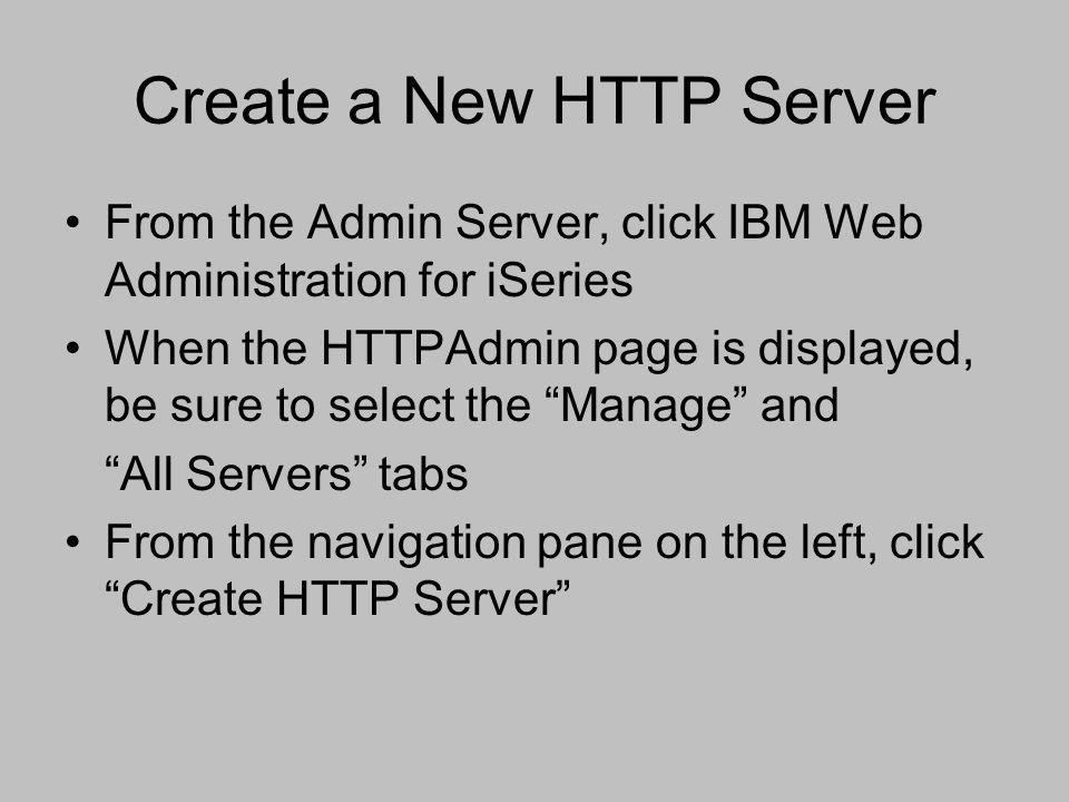 Create a New HTTP Server