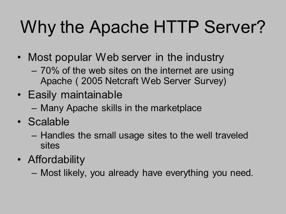 Why the Apache HTTP Server