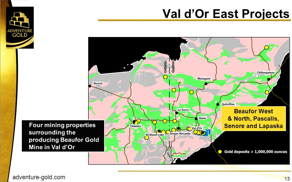 Val d'Or East Projects Beaufor West & North, Pascalis,