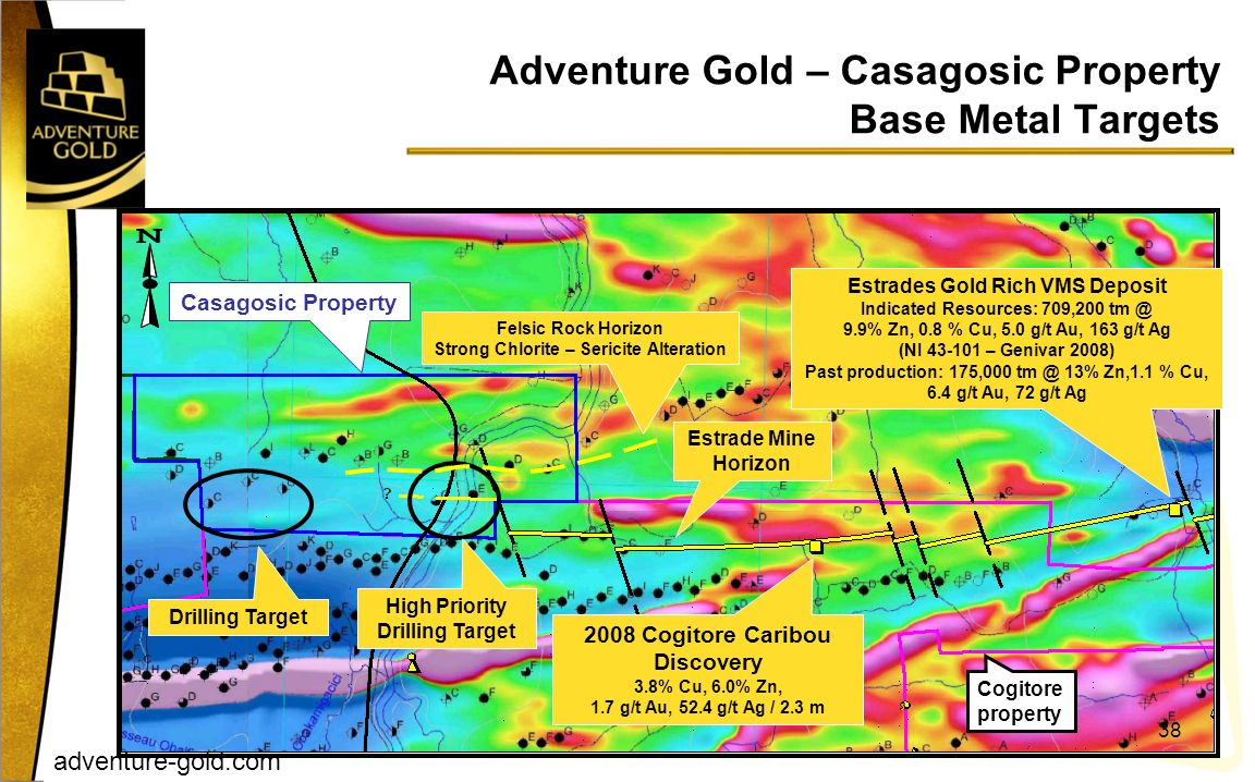Adventure Gold – Casagosic Property Base Metal Targets