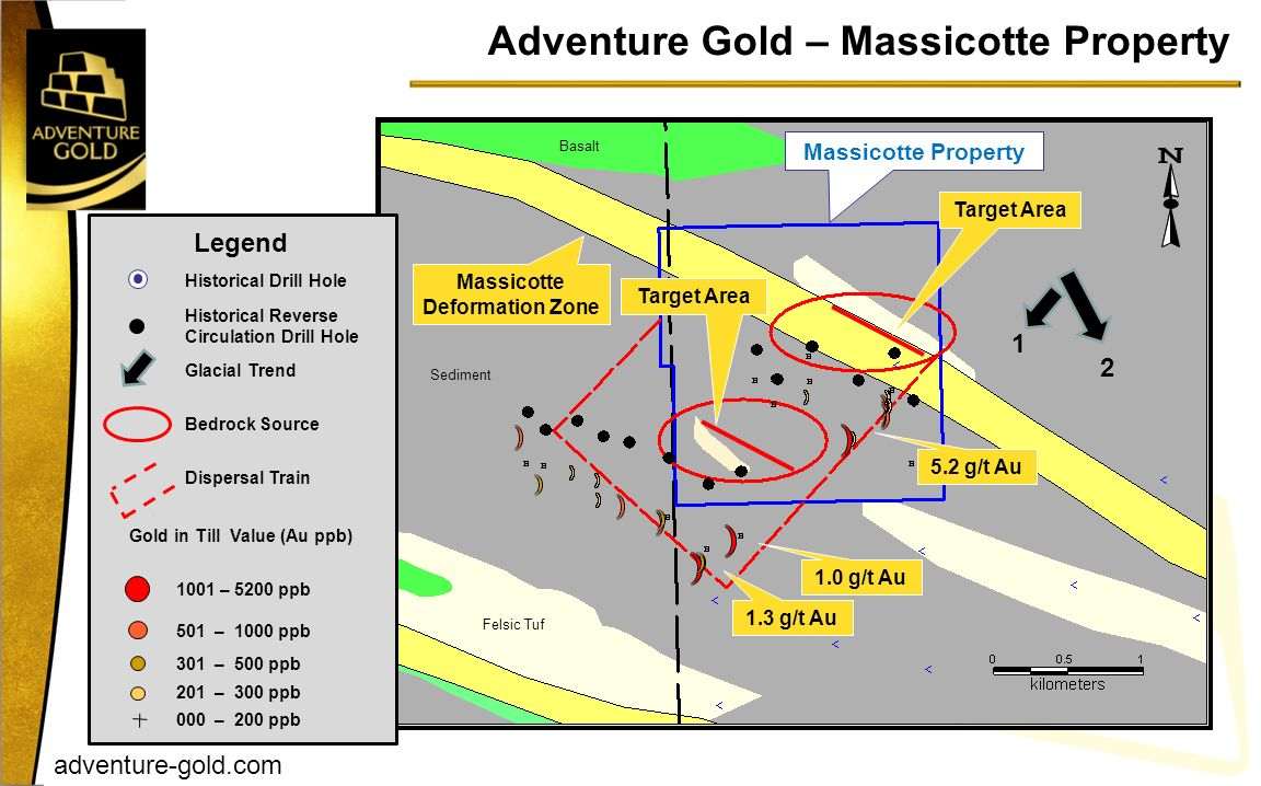 Adventure Gold – Massicotte Property