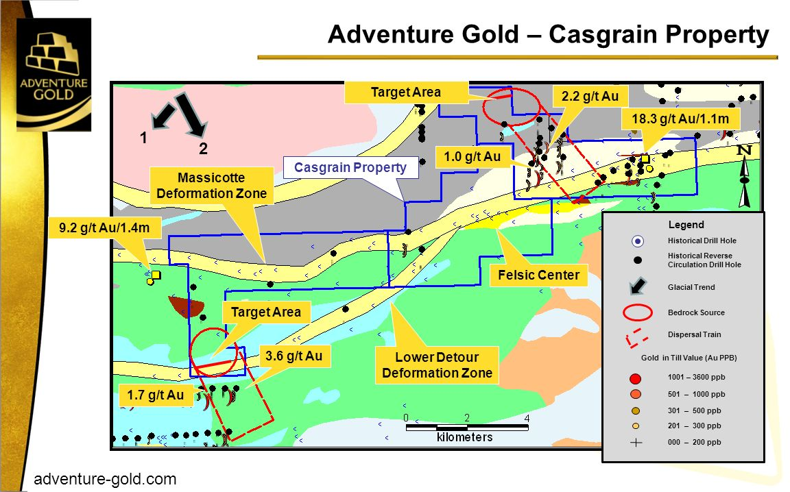 Adventure Gold – Casgrain Property