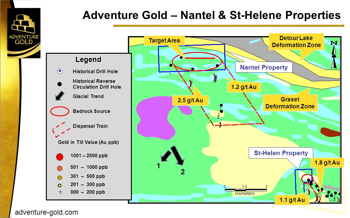 Adventure Gold – Nantel & St-Helene Properties